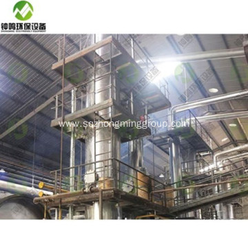 Industrial Fractional Distillation of Used Engine Oil