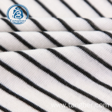 High quality cotton stripe textile custom fabric
