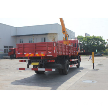 Dongfeng 5ton LHD truck mounted crane