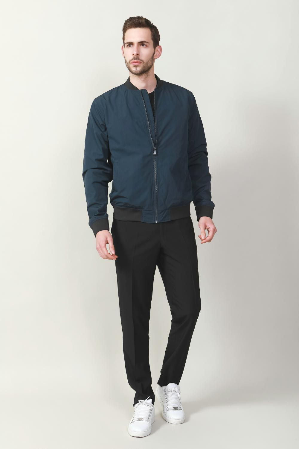 Men's cotton with rib jacket
