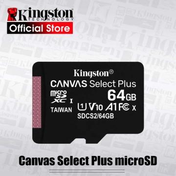 Kingston Canvas Select Plus microSD Card Class10 carte sd memoria 128GB 32GB 64GB 256GB 16G 512G TF Flash Memory Card for Phone