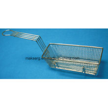 Rectangle Steel Fry Basket with Handle