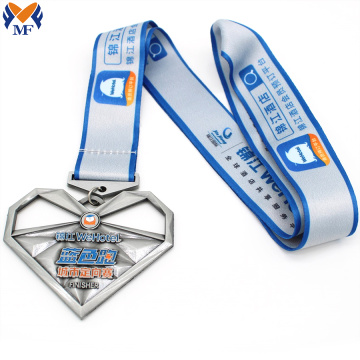 Custom heart shape sport medal price