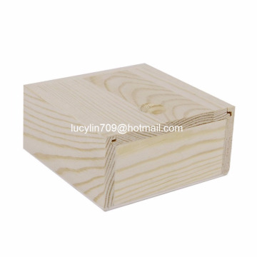 Heart Wooden Jewellery Box Jewellery Organiser, Original Wood Color For DIY Painting