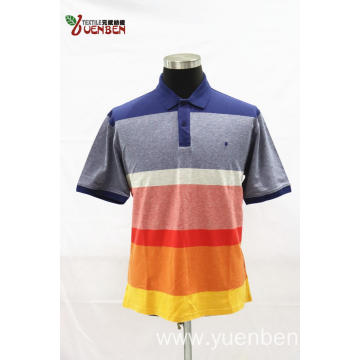 95%Cotton 5%Spandex YD Stripe PK With Solid Placket
