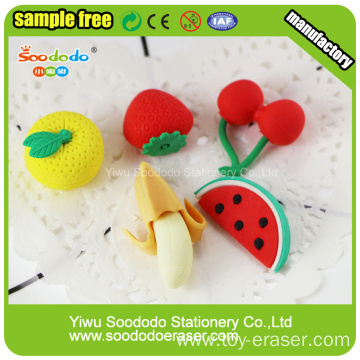 Fruit Promotion Eraser for kids ,TPR eraser