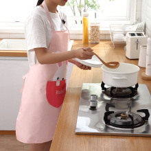 Super Thick Wear-Resistant Home Cooking Wipeable Apron Cartoon Animal Print Waterproof Apron Household Kitchen Supply TSLM2