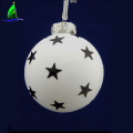 star pattern glass ball ornament for party Christmas