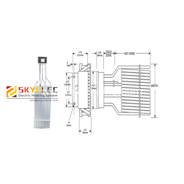 PTEF Single/Three Element Over-The-Side Tubular Heaters