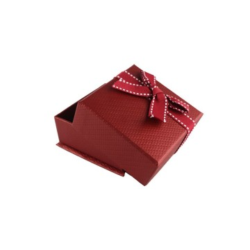Fortunate Red Plastic Jewelry Box with Bowknot