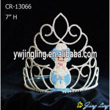 Wholesale Rhinestone Snowman Christmas Pageant Crowns