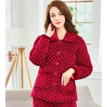 Women's pajamas in thick red