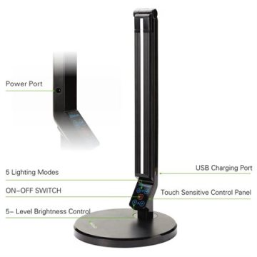 Energy-saving LED table lamp with USB port