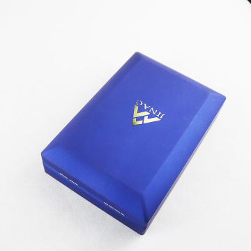 Blue Plastic Jewelry Set Box with LED Light