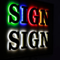 LED Halo Lit Sign Letters Reverse Channel Letters