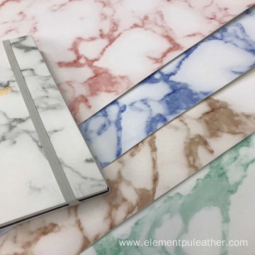 PVC marbling pvc leather for bags and package