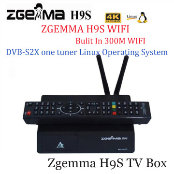 Super Sale ZGEMMA H9S 4K UHD H.265/HEVC digital satellite tv deocder dvb s2/s2x multistream with iptv stream with build-in wifi