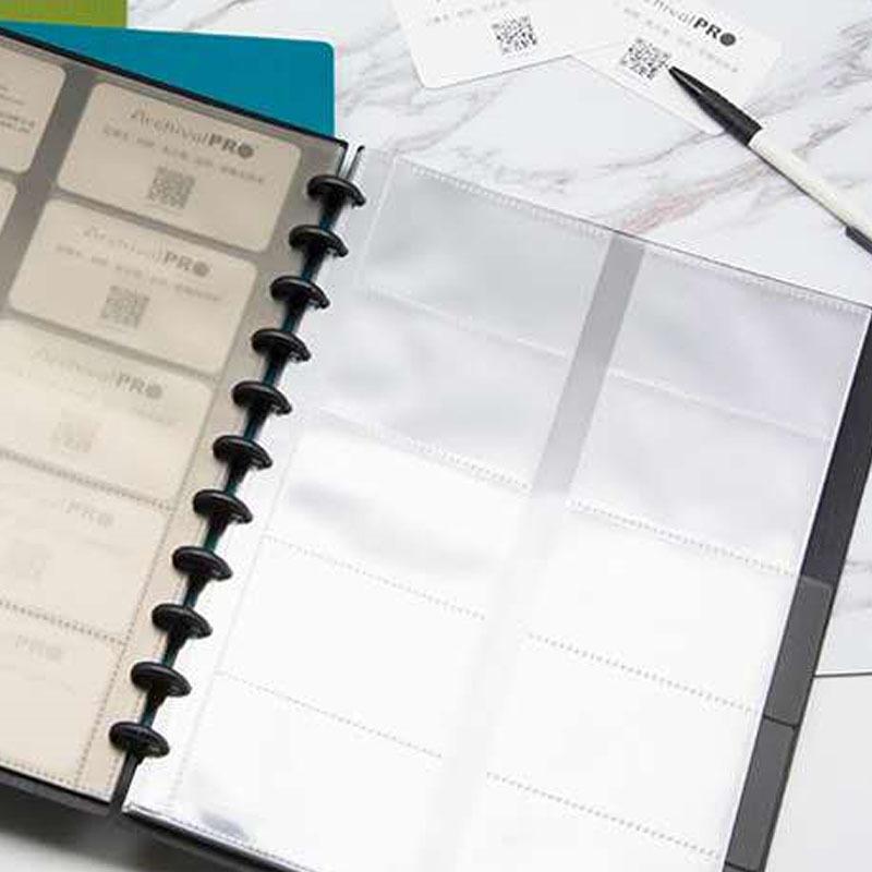 25pcs/lot Loose Leaf Clear Business Card Storage Mushroom hole Bag 11-hole A4 7-hole B6 Receive Bag Concise Holder Binder Notebo