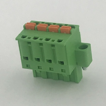 spring female pluggable terminal block with locking screws