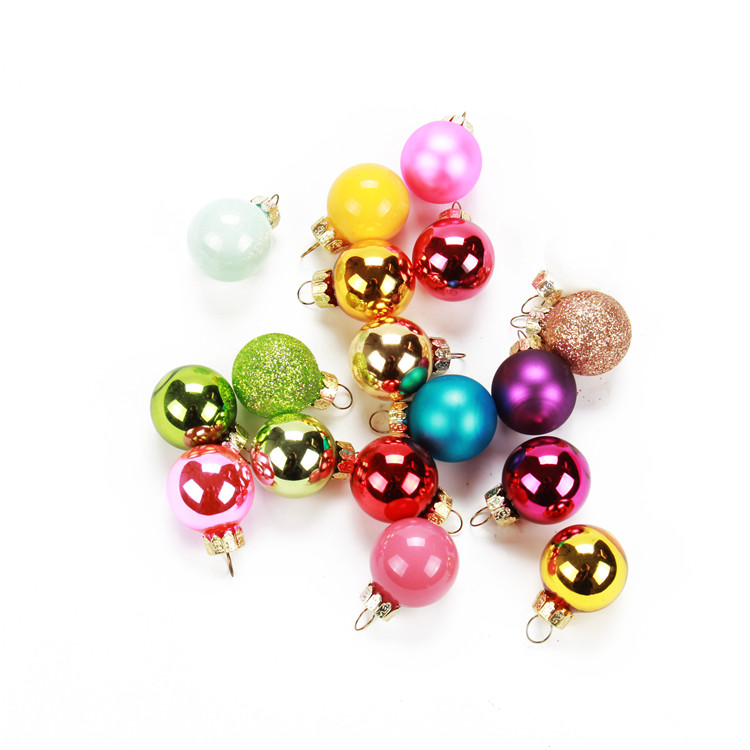 Mini glass ball ornaments
