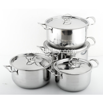 Stainless Steel Cookware Set with Stainless Steel Lid