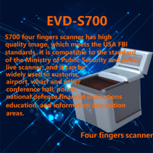 Four fingers fingerprint scanner