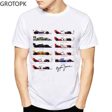 All Ayrton Senna Sennacars Men T Shirt Fans Male Cool T-shirt White Fitness Casual Tops Tee Shirt Streetwear Shirt Men