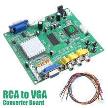 Mayitr 1PC RGB CGA EGA YUV to VGA HD Video Converter Board Moudle HD9800 GBS8200 for Audio & Video Cables