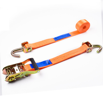 "1.5"" 3000kgs 38mm Plastic Ratchet Buckle Car Tire Belt Straps With 1.5 Inch Swivel Hooks"