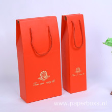 Luxury Wine Bottle Gift Packaging Paper Boxes