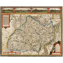 Vintage Map Poster Moraviae nova et post omnes priores Classic Canvas Paintings Vintage Wall Posters Stickers Home Decor Gift