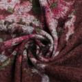 Warmly Imitation Cashmere Floral Printed Fabric For Clothing