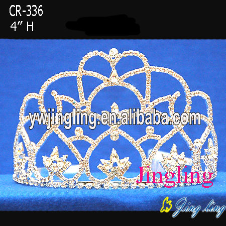 4 Inch Small Flower Rhinestone Crowns