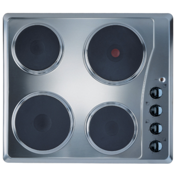 4 Zone Electric Hobs Steel Top