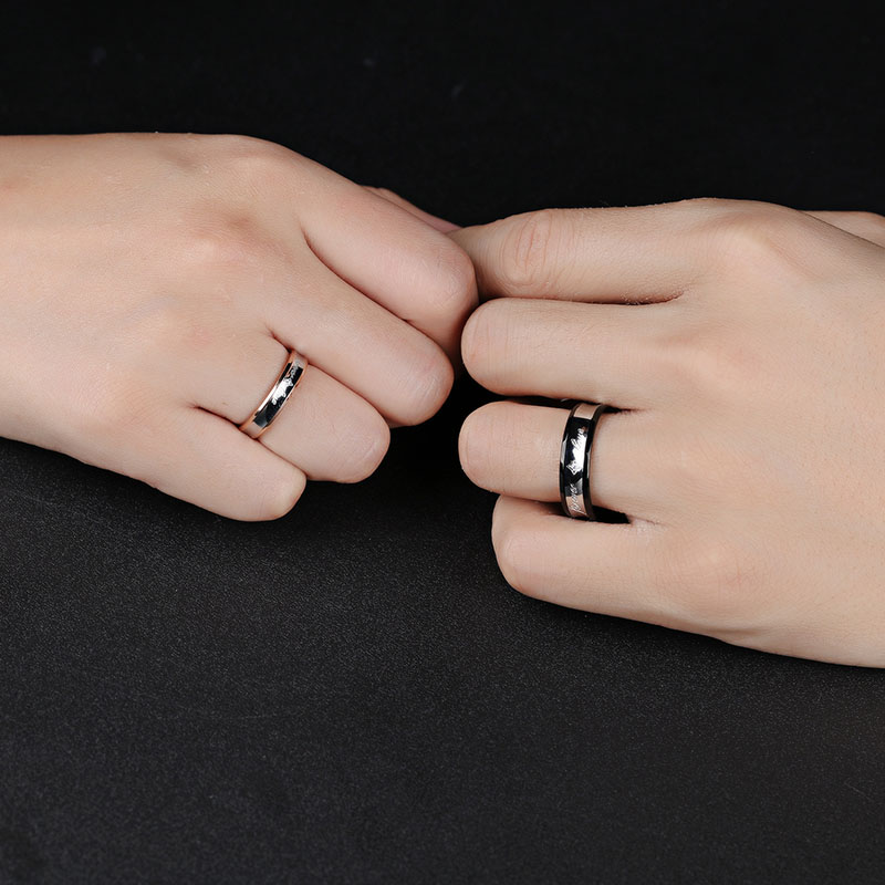 Custom Unique Couple Promise Ring Sets With Name
