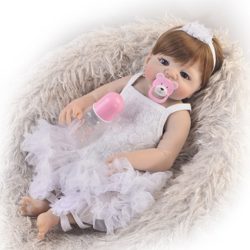 KEIUMI Full Vinyl Body Reborn Baby Doll 57cm Lifelike Baby Reborn Realistic Princess Girl Baby Dolls For Kids Xmas Gift Bath Toy