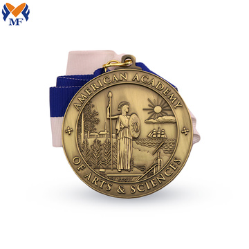 Golden metal american god medal