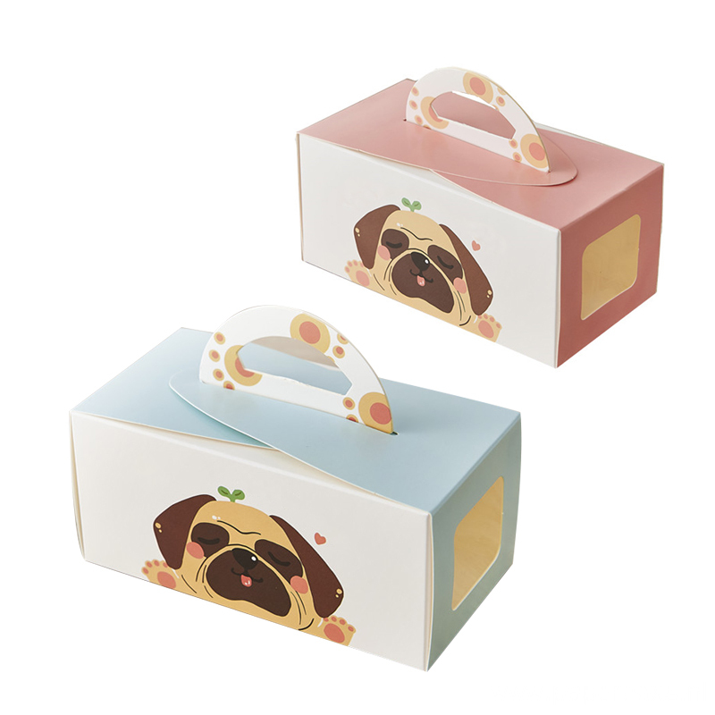 Customized Luxury Cake Packaging Paper Box With Handle
