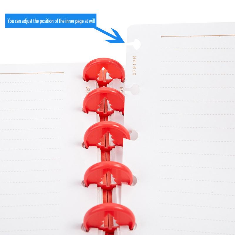 24MM Notepad Binding Buckle Plastic Binding Mushroom Hole Binder Ring Notebook Disc Clip Binding Ring Office Learning Supplies