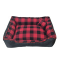 Christmas plaid cloth pet bed with Scottish style