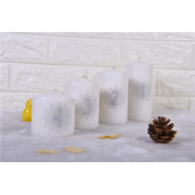 Small Size White Christmas Candle