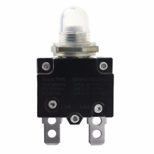 1pc Mini Circuit Breaker 12/24V Push Button Resettable Thermal Circuit Breaker Panel Mount 5-30A Auto Marine Replacement Parts