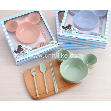 4-Pieces Minnie Mouse Shape Baby Dinnerware