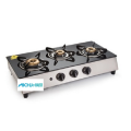 Glen 3 Burners SS Plus Glass Gas Stove