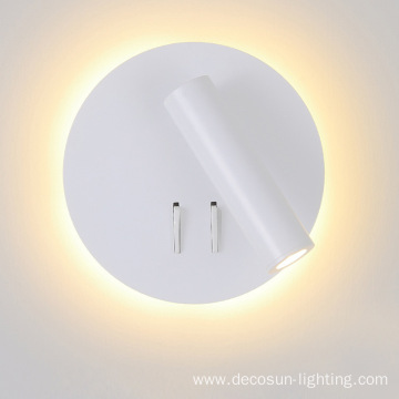 Round Square LED Wall Light With Reading Light