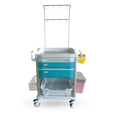 Color-optional ABS Double I.V. Pole Treatment Trolley