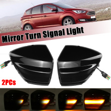 2pcs LED Dynamic Mirror Indicator Light for For Ford S-Max 07-14 Kuga C394 08-12 C-Max 11-19 Flowing Turn Signal Blinker Lamp
