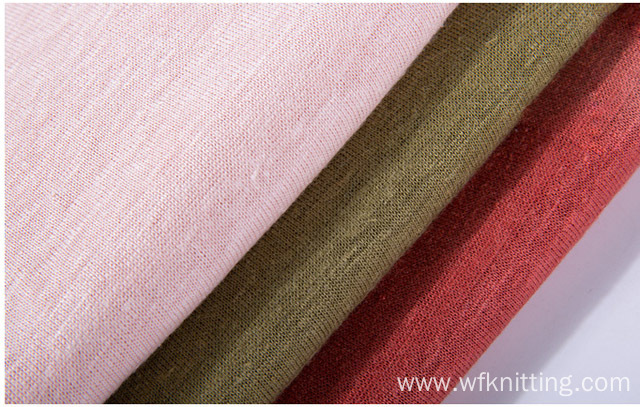 190gsm Thicken 100% Hemp Knit Fabric For Garment