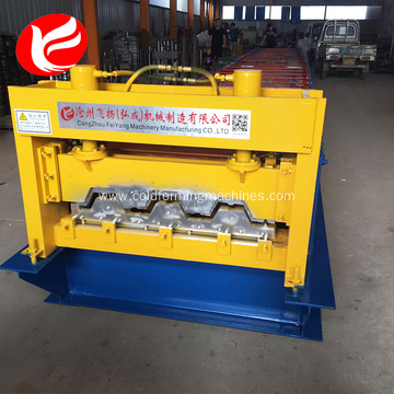 Hydraulic color steel floor deck roll forming machine