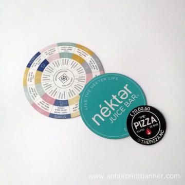 Advertising magnet circle shaped bumper sticker